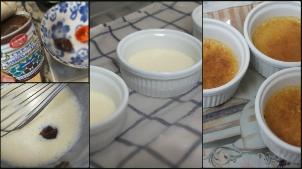 Making chestnut crème brulée 2