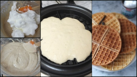 Making chestnut waffles 3