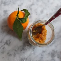 Healthy mandarin or clementine compote-like jam