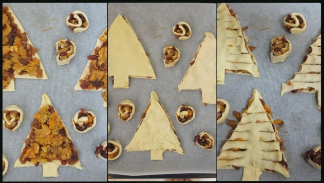 Filling the pastry trees