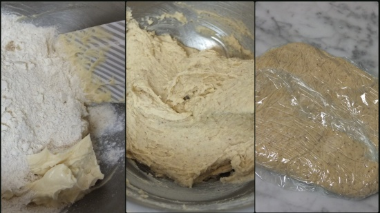 Making the sablé dough 2