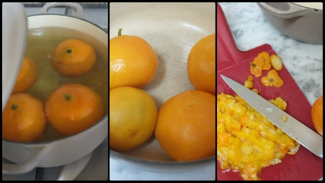 Mandarin or clementine compote jam