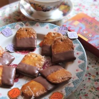 Masala Chai and chocolate tea bag biscuits