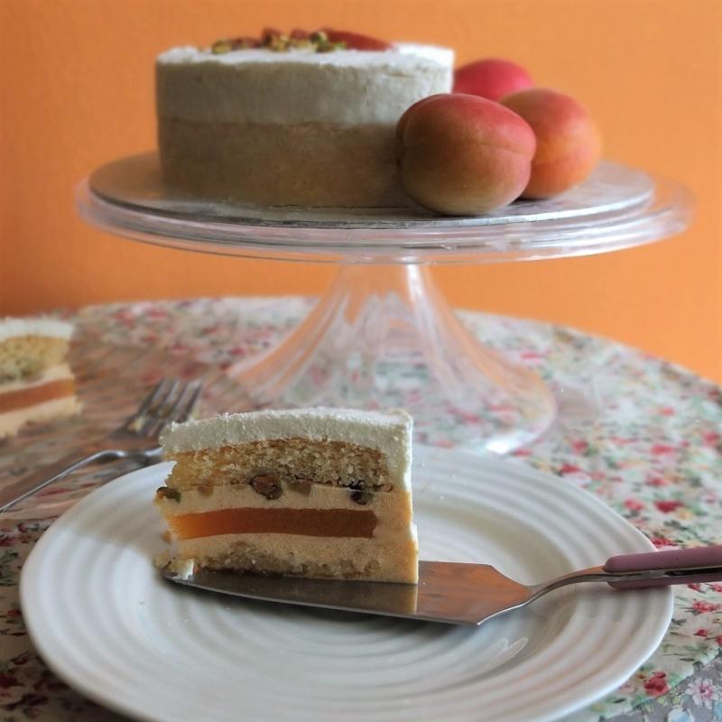 Apricot sunshine mousse cake