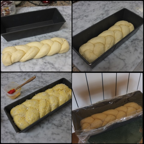 Shaping and proving a plaited brioche