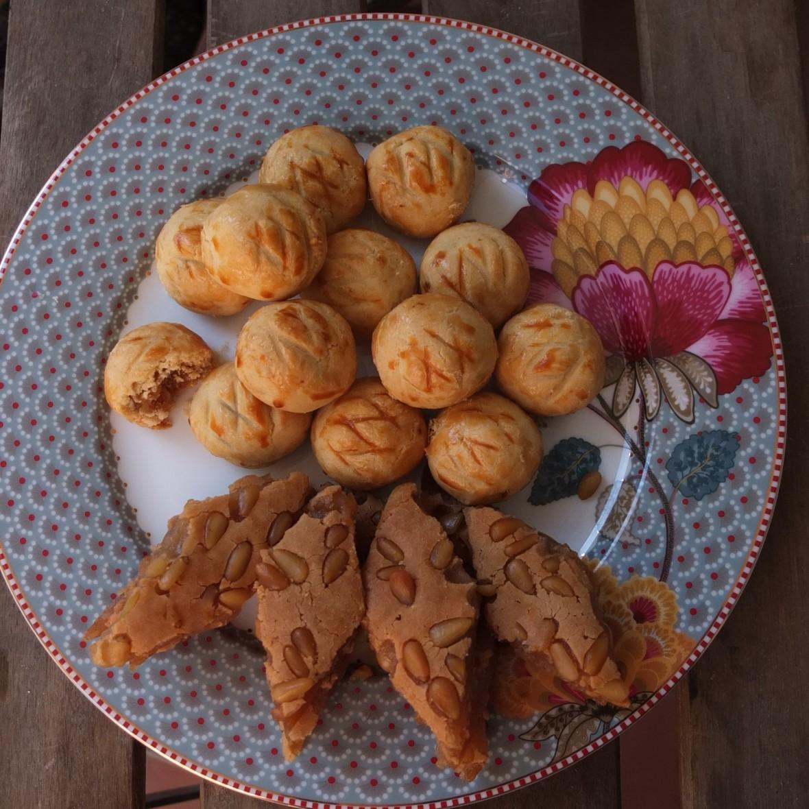 Healthier baked niangao sticky rice cake and glutenfree healthier pineapple tarts