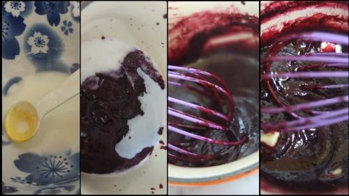 Making blackcurrant curd