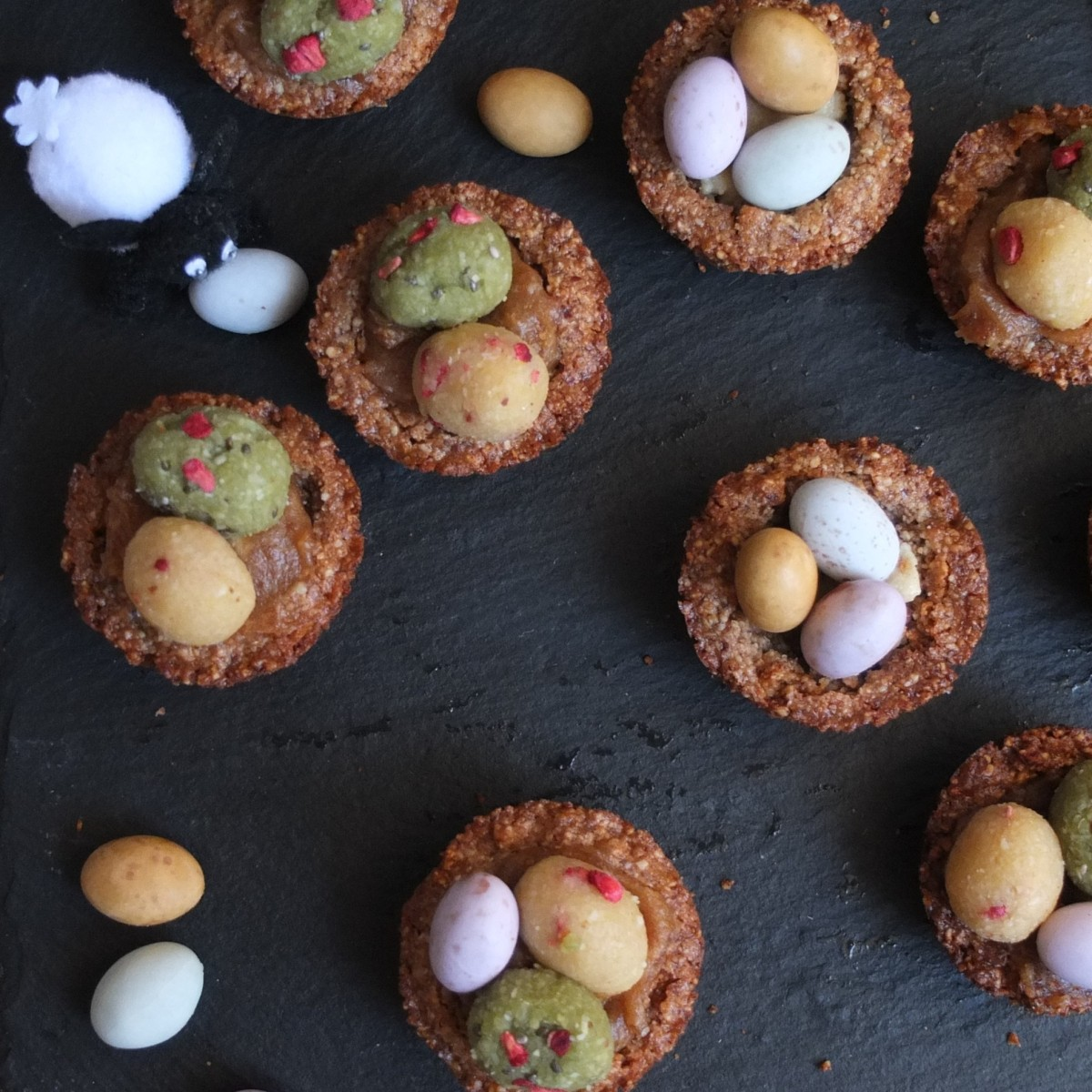 Vegan cinnamon spiced cookie nests or cups recipe!  Gluten free and refined sugar free... plus other Easter recipes!
