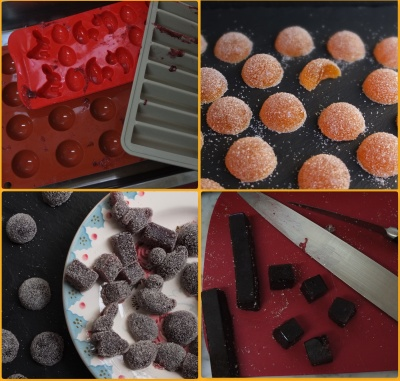 Pate de fruit shapes and moulds