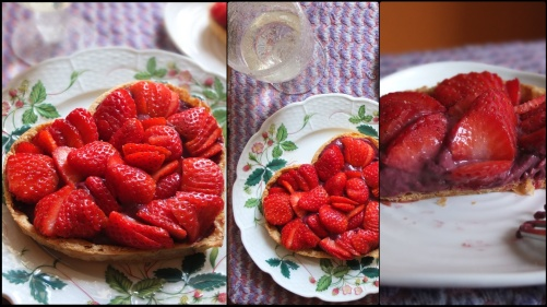 Strawberry-blackcurrant tart prototype 1