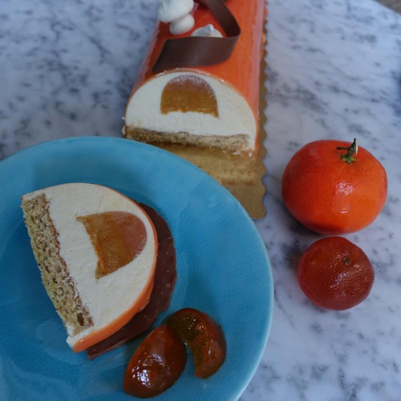 'Mazing mandarin citrus logcake