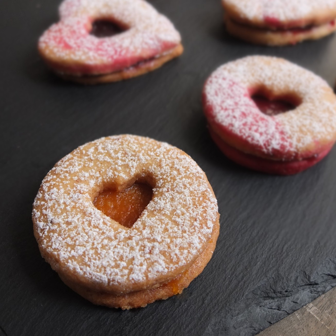 Spiced linzer biscuits - glutenfree or not...