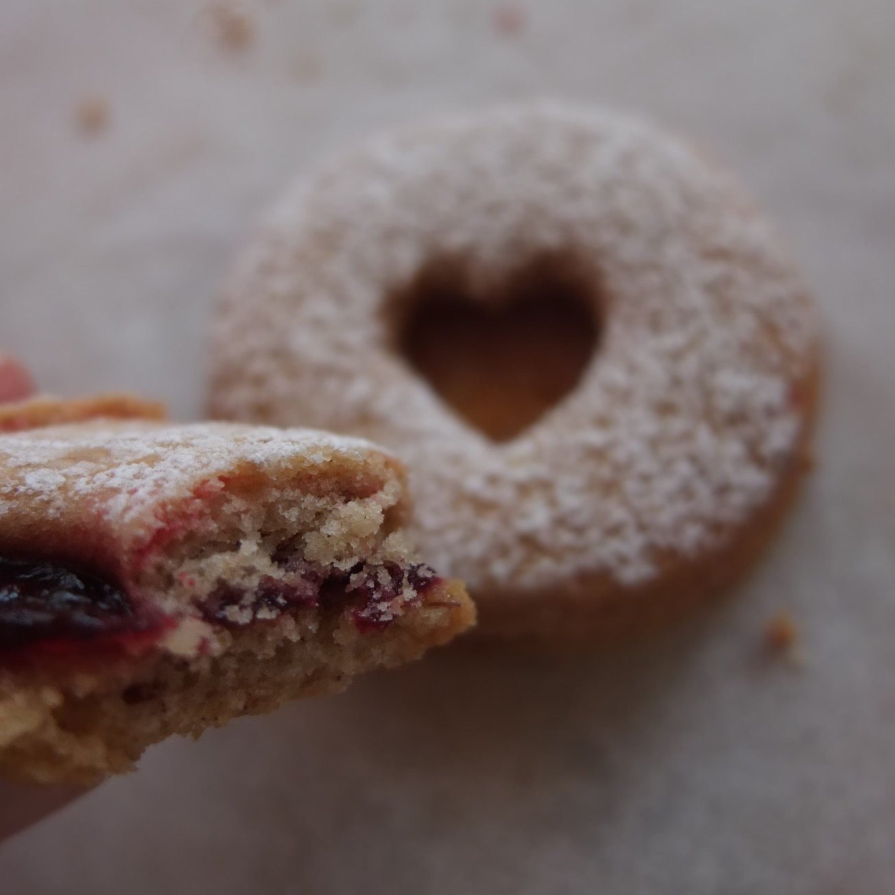 Spiced Linzer biscuits