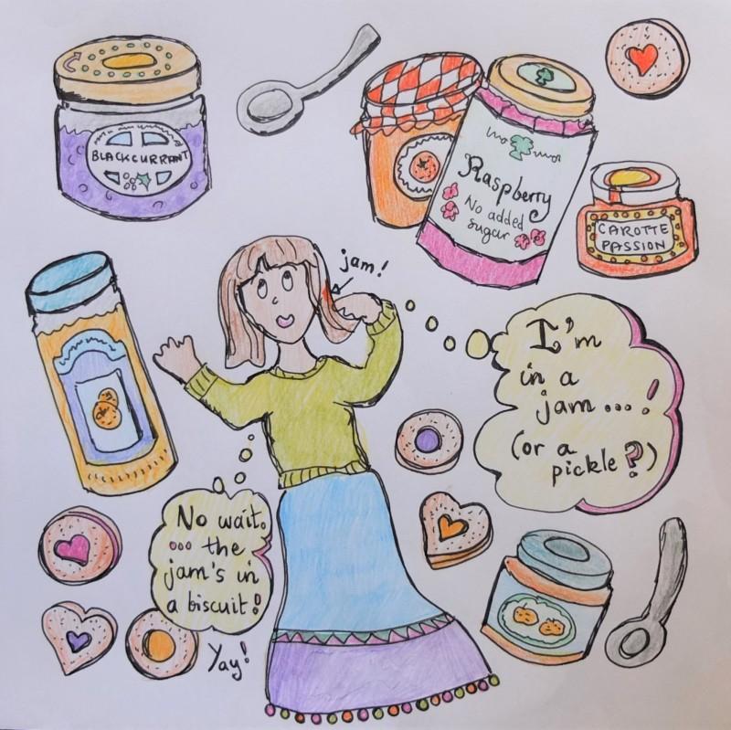 Linzer jam cookies story