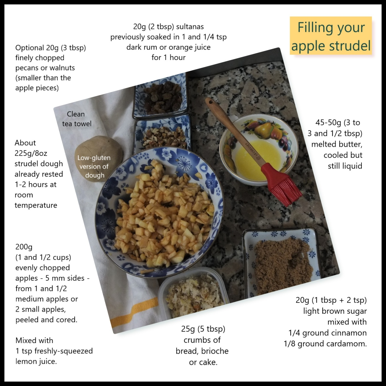 Filling your apple strudel photo illustration