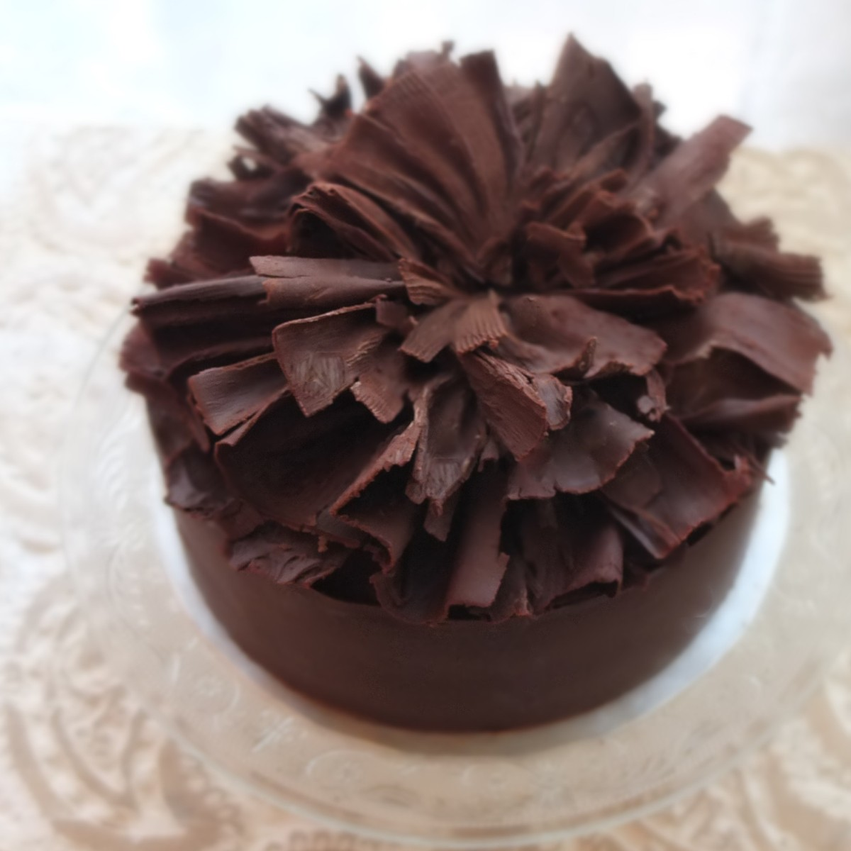 The smaller Feuille d'Automne recipe!  Lenôtre's classic dark chocolate mousse and meringue cake!