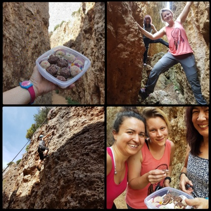 Climbing with cake truffles