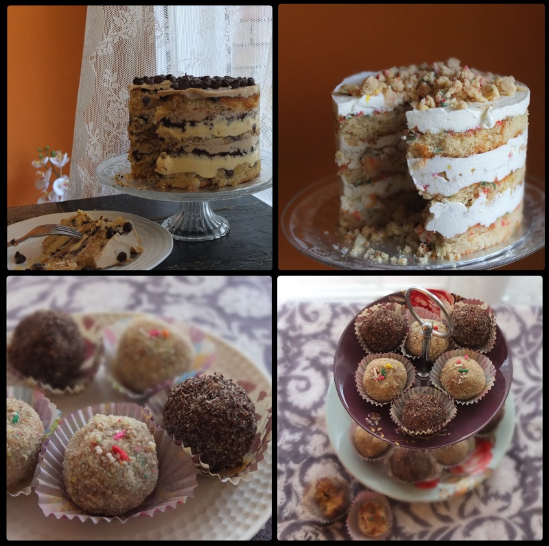 Milk bar layer cake and truffles assortment