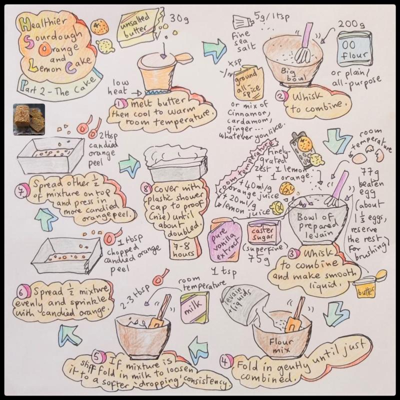 healthier sourdough orange and lemon cake illustrated recipe