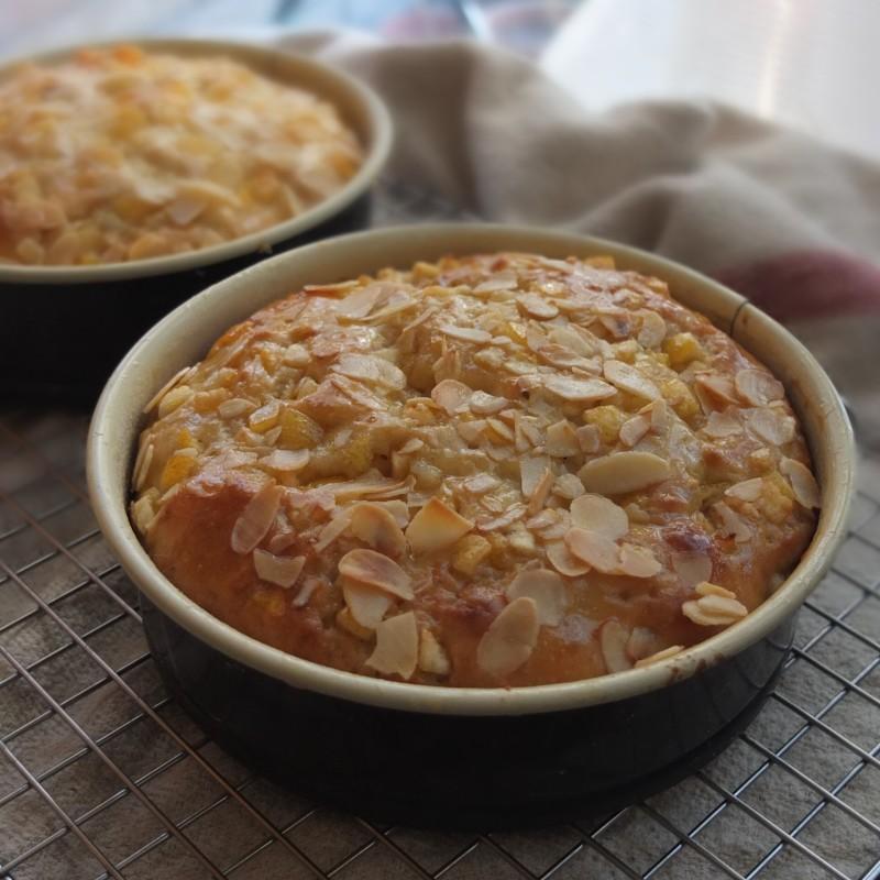 Healthier sourdough sweet yeasted orange cake