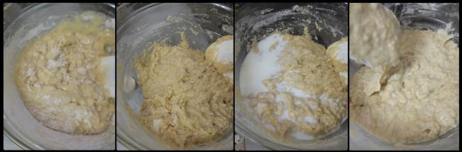 Making the sourdough orange and lemon cake 3