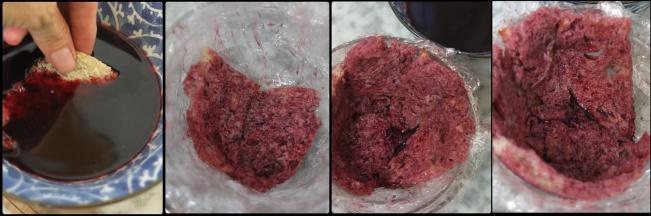 Assembling the sourdough summer pudding 2