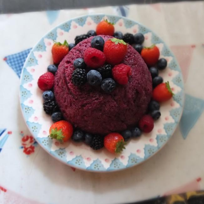 Healthier sourdough summer pudding