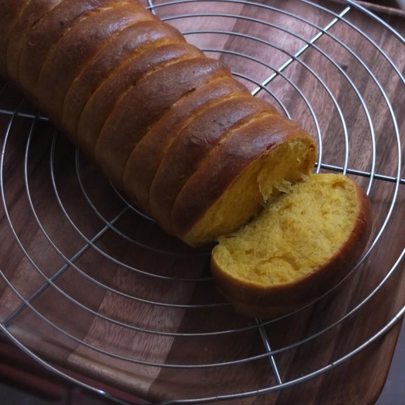 Pumpkin roti sisir, instant yeast version