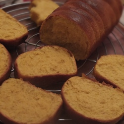 Pumpkin roti sisir, instant yeast version