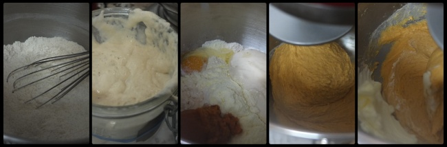 Pumpkin roti sisir dough part 1