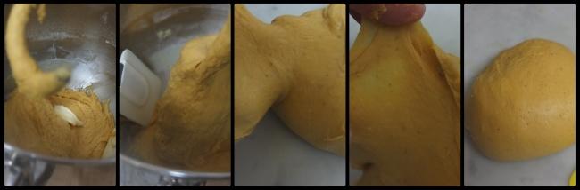 Pumpkin roti sisir dough part 2