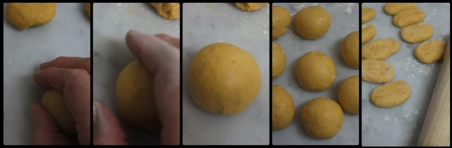 Pumpkin roti sisir shaping part 2