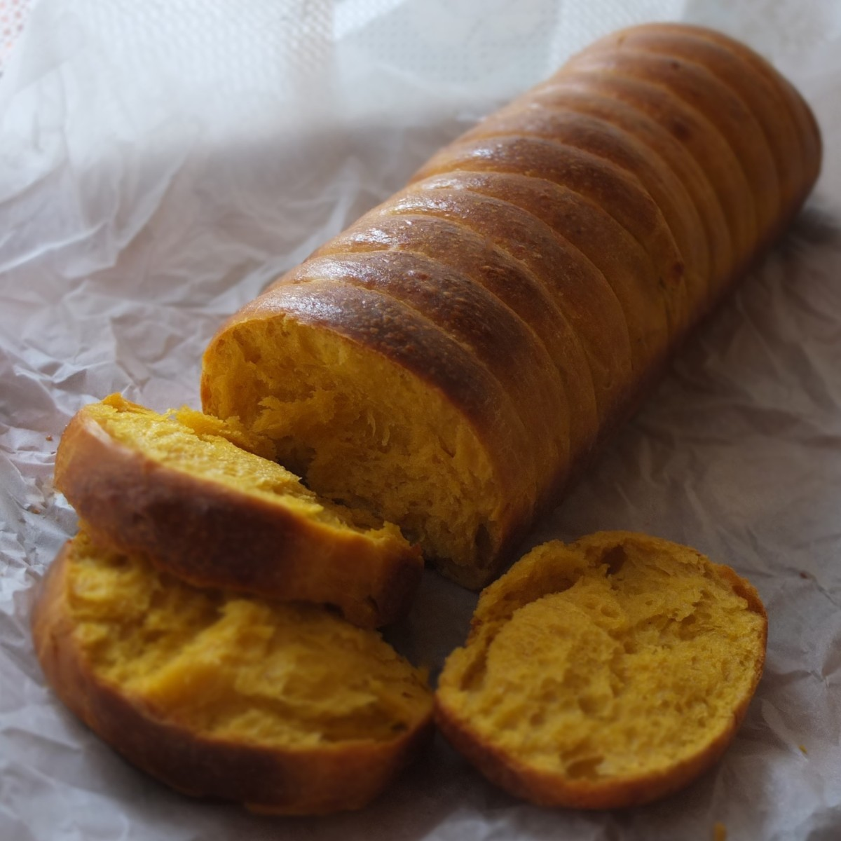 Pumpkin roti sisir - Indonesian fluffy pull-apart bread recipe!  Sourdough and instant yeast versions... :)