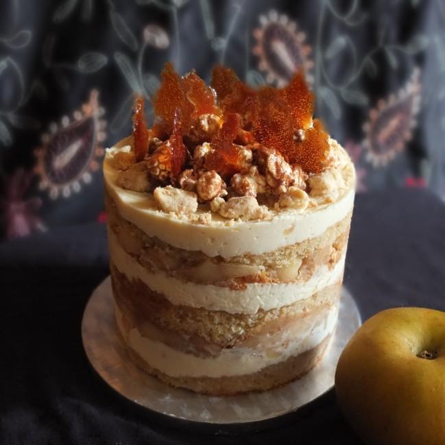 Healthier apple pie layer cake, gluten free or not