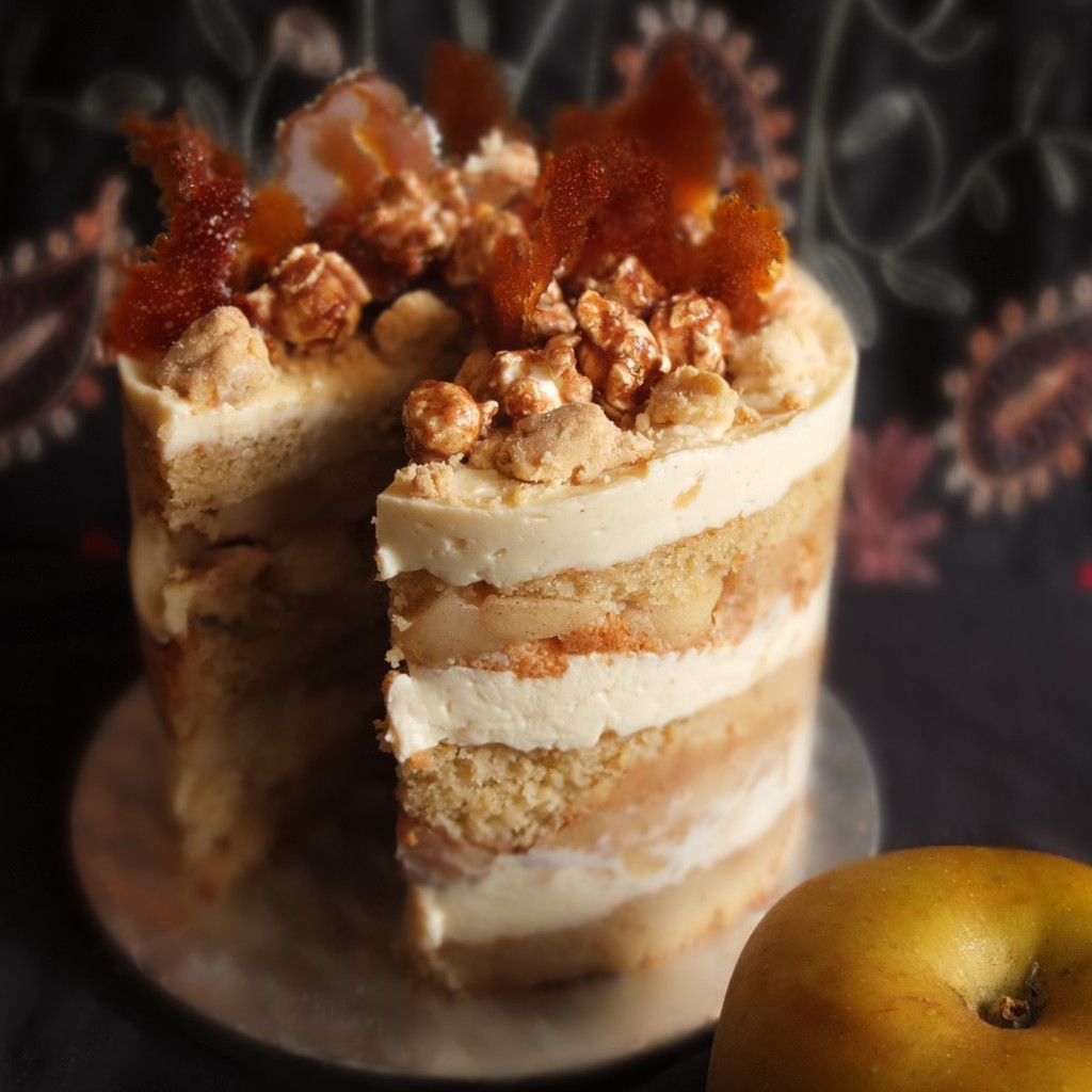 Healthier apple pie layer cake, gluten free or not