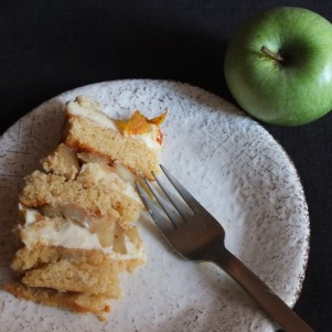 Apple pie layer cake, prototype 1