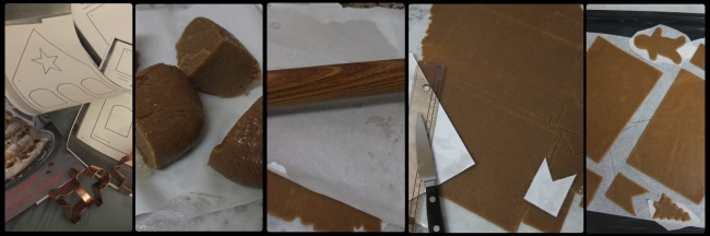 Cutting and baking the gingerbread