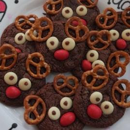 Rudolph chocolate cookies