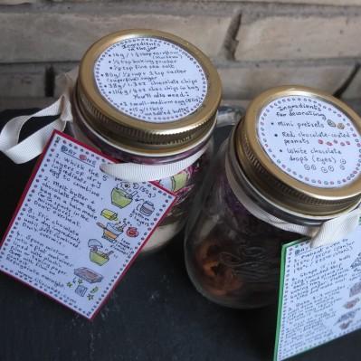 Rudolph cookies in 2 jars
