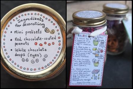 Making Rudolph cookie jars