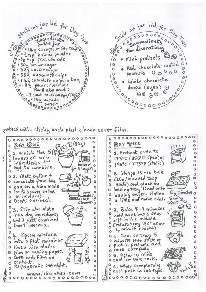 Rudolph chocolate cookie jar labels in bla