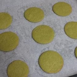 Cherry dome cakes (santa hats) - matcha bases