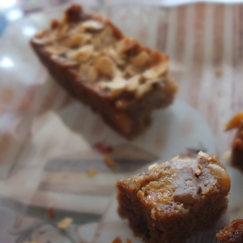Sourdough bread pudding , vegan version