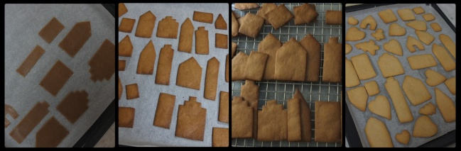 Gingerbread village shapes