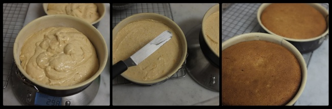 Orange spiced cake sponge, baking