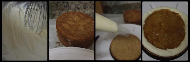Orange spiced cake. assembling 1