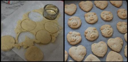 Vegan macadamia vanilla cookies - baking shapes