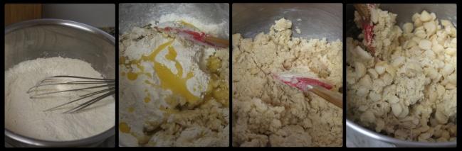 Vegan macadamia vanilla cookies - making, 2