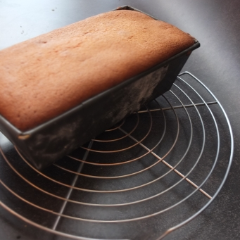 Baking the Ispahan cake