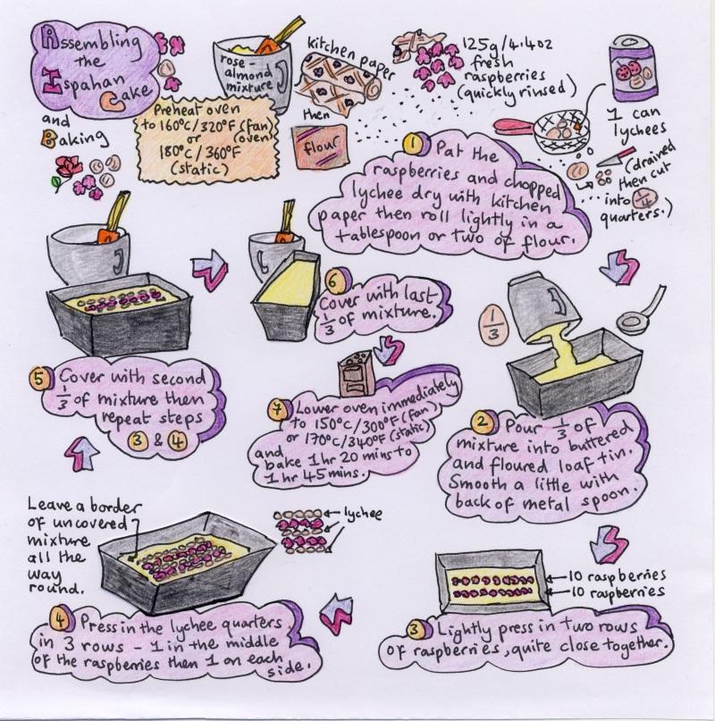 Ispahan cake illustrated recipe